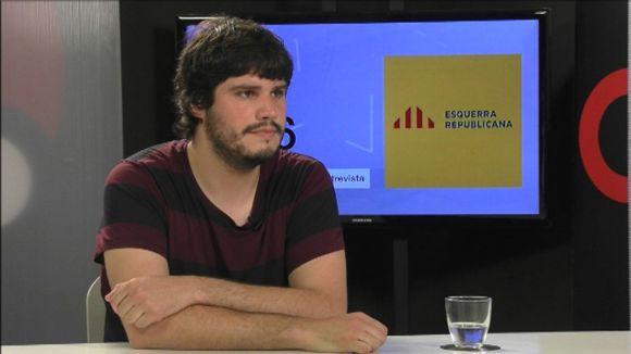 Èric Gómez, durant l'entrevista a Cugat.cat
