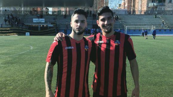 D'esquerra a dreta. Reverter i Pesky, dos dels jugadors que continuen al SantCu / Font: Cedida