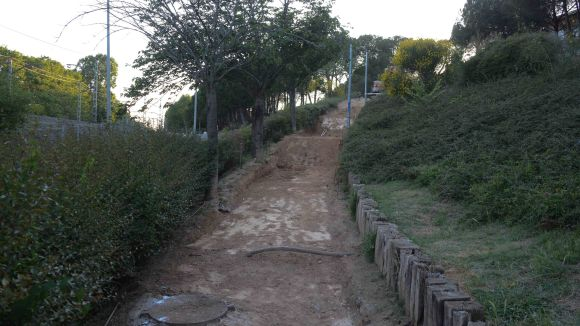 Tram on es construiran les escales / Foto: Localpres