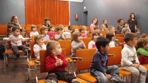 Un grup de nens a l'escola bressol El Gargot