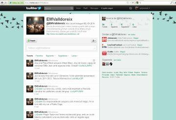 Aspecte del perfil de l'Escola a Twitter