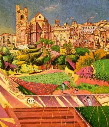 Miró va pintar l'obra 'Església i poble' al Mont-Roig
