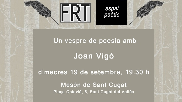 Espai poètic: Joan Vigó