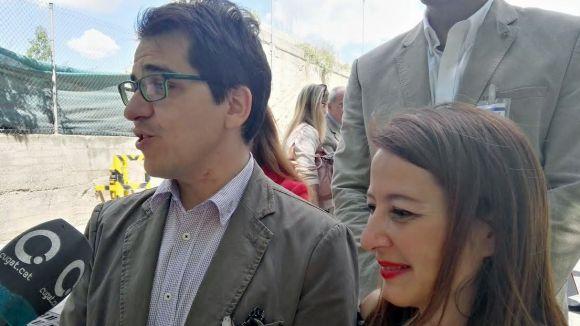 José María Espejo-Saavedra i Sonia Sierra a la visita a Lubrizol