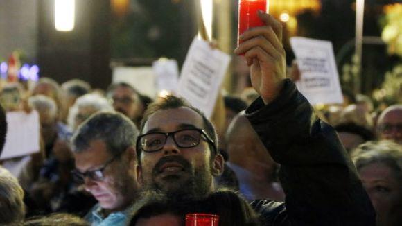 Un moment de la concentració d'aquest dimarts a Barcelona / Foto: ACN