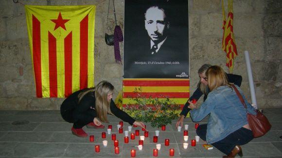Els santcugatencs recorden Companys clamant per la defensa de la memòria