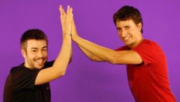 Axel Camarasa i Àlex Fàbrega, copresentadors del programa