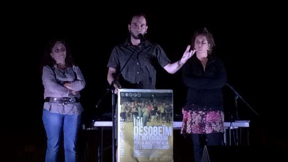 L'Esquerra Independentista enlaira a Sant Cugat la bandera de la desobediència