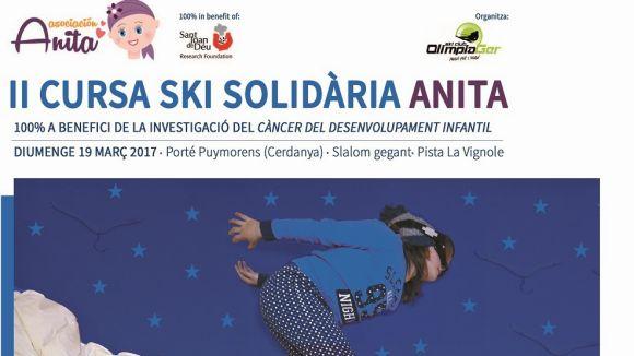 Cartell promocional de la 2a edició de la cursa ski solidària Anita / Font: EMD Valldoreix