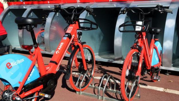 Les noves bicicletes del servei d'E-Bicibox / Foto: ACN