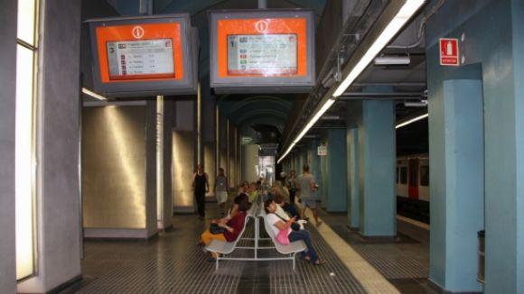 Imatge de l'estació de Gràcia / Foto: ACN