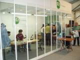 Imatge de l'estand de Ràdio Sant Cugat a la mostra, des d'on es va fer tota la programació de l'emissora en directe