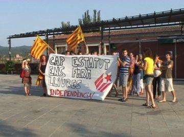 La CEI rebutja l'Estatut en una concentració per demanar el trencament amb l'Estat espanyol