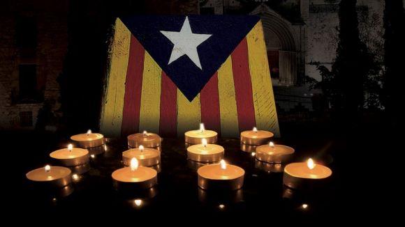 Les entitats sobiranistes il·luminaran aquest dissabte una estelada en suport a Mas, Ortega i Rigau pel 6F