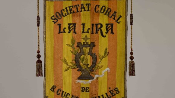 L'estendard de la Coral La Lira ja està restaurat
