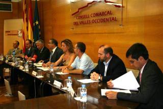 Moment de presentació de l'informe al Consell Comarcal