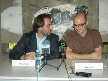Raül Grangé i Noel Garcia en un moment de la presentació
