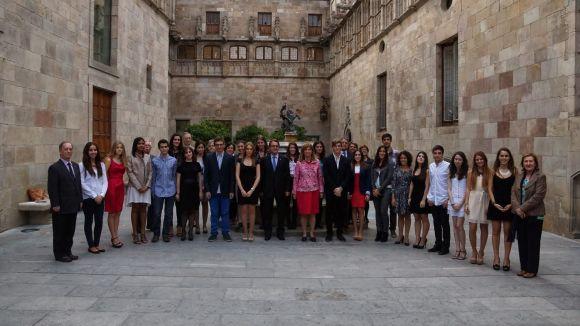 Artur Mas rep l'estudiant Clàudia Bell, amb motiu del Premi Extraordinari de Batxillerat