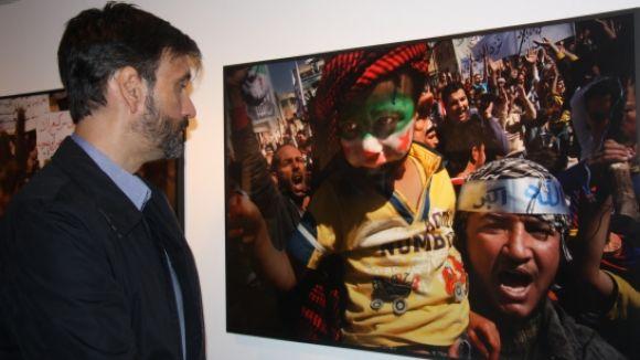 Ricard Garcia Vilanova porta al Palau de la Virreina part del seu treball a Síria