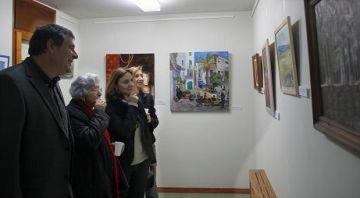 Conesa i Puig durant la visita a la mostra