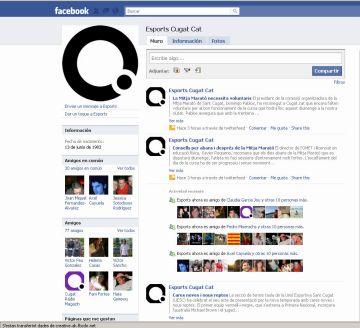 La redacció d'Esports de Cugat.cat al 'Facebook'