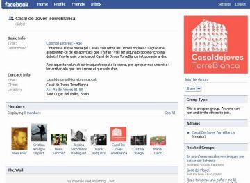 Aspecte del grup del Casal al Facebook