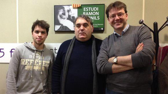 Joan Daniel Bezsonoff (centre), amb Sergi Alemany i Jordi Van Campen, al 'Sant Cugat a fons'