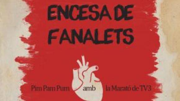 L'encesa d'un cor gegant, proposta de Pim Pam Pum per a la Marató de TV3