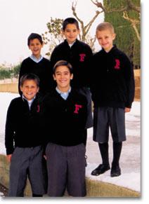 Alumnes de l'escola La Farga.