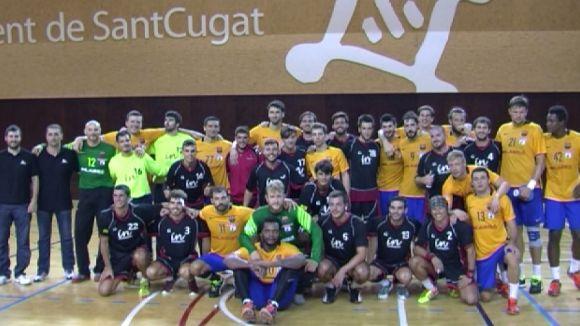 El Barça elimina de la Supercopa de Catalunya l'Handbol Sant Cugat (16-42)