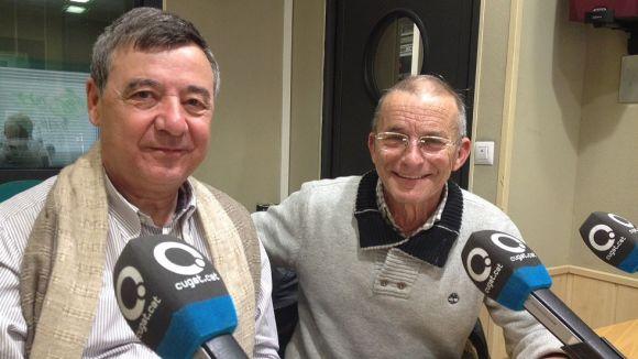 Antonio Lucas Matías i Manel Sánchez als estudis de Cugat.cat