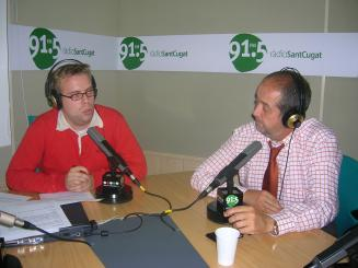 Felip Puig, durant l'entrevista a Ràdio Sant Cugat