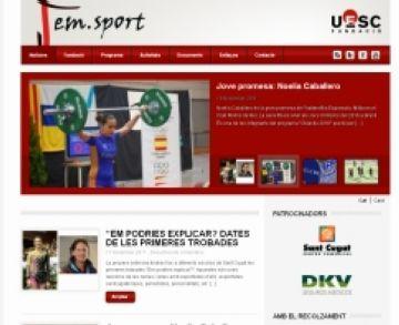 Imatge de la web del 'Fem Sport'
