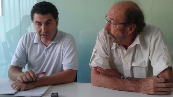 Començant per l'esquerra, Ferran Villaseñor i Jaume Espina