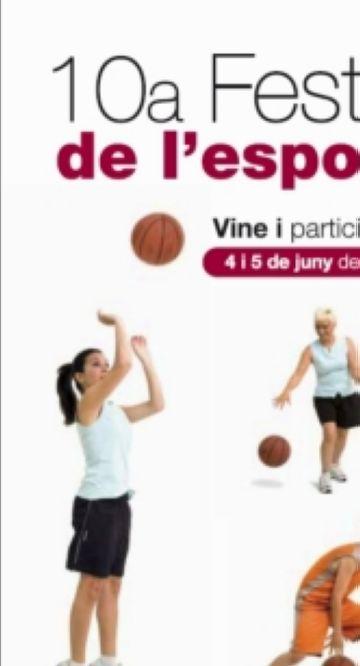 Festa de l'esport base local a la plaça d'Octavià