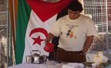 Una de les paradetes de la festa era la dels refugiats del Sàhara