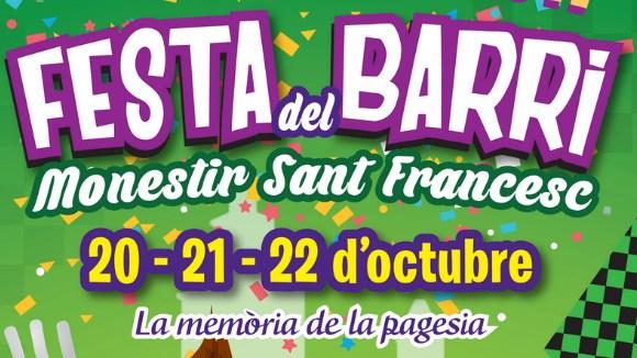 Festa Monestir-Sant Francesc: Cercavila popular i Esclat d'inici de festa