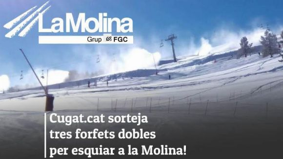 Cugat.cat sorteja tres forfets dobles per esquiar a La Molina