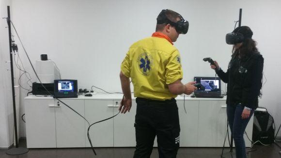 FGC i el SEM fan simulacions d'emergències utilitzant la realitat virtual