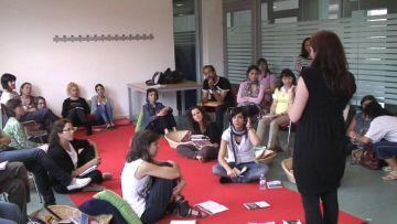 Moment de la sessió dedicada als educadors