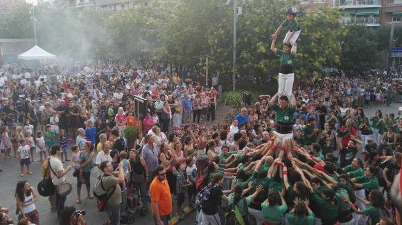 L'arribada dels Gausacs a la plaça de la Vila ha posat el punt final al seguici d'inici de Festa Major