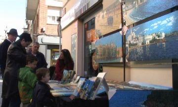 Parada de pintures al carrer Santiago Rusiñol