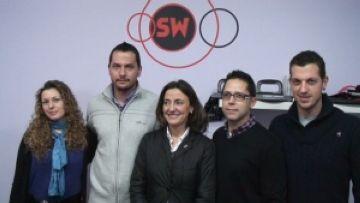 L'equip d'Sportwell amb Mercè Conesa
