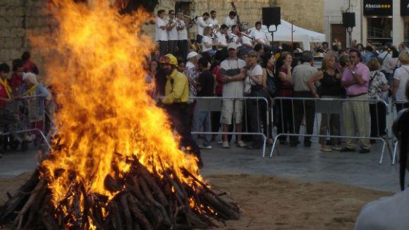 Sant Cugat s'encendrà amb la flama del Canigó