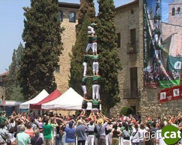 Imatge dels castellers de Sant Cugat enguany