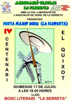 Una representació del Quixot al Bosc Literari i una caminada per La Floresta, principals novetats de la programació