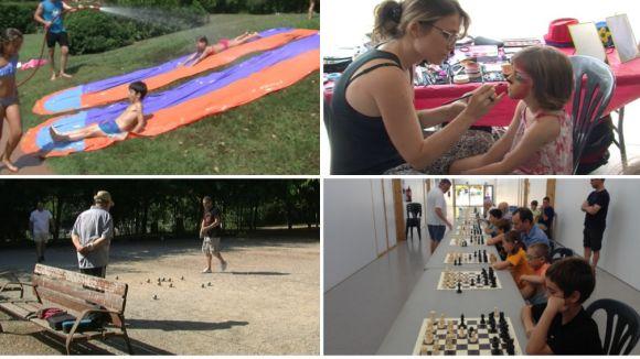 Jocs d'aigua, escacs i petanca, protagonistes aquest dissabte a la Festa Major de Mira-sol
