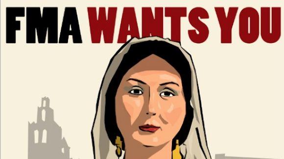 Detall del cartell de la campanya / Foto: FMA