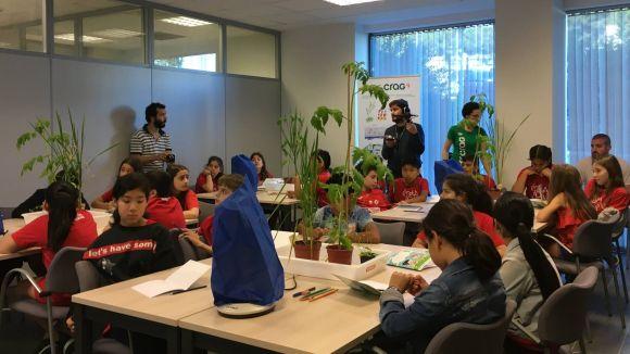 Alumnes de l'escola Maragall participen a les proves pilot del projecte 'Plantes Muntants' del CRAG