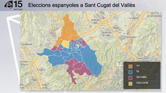 Mapa electoral 20D: DL resisteix al centre i En Comú Podem fa forat a la Floresta i a les Planes